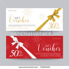 gift cards sale gift voucher template promotion sale discount stock vector