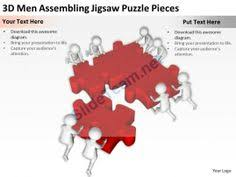 3d team interconnected jigsaw puzzle strategy ppt graphics icons