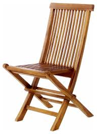 all things cedar tf22 teak wood folding chair modern outdoor