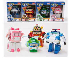 robocar poli helly amber roy transforming robot korean