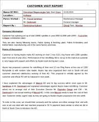site visit report template 7 sle visit reports free premium templates