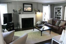 living room living room color schemes brown couch dark laminate