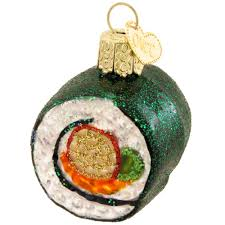 sushi roll glass ornament ethnic pride ornaments