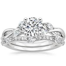 engagement and wedding rings platinum bridal sets wedding ring sets brilliant earth
