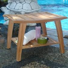 solid teak shower bench free shipping today overstock com