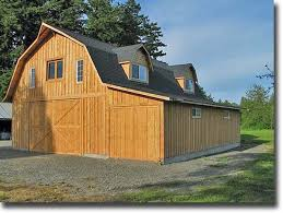 Gambrel Roof Garages by Shed Roof Attached To Gambrel Barn 32 U0027 X 40 U0027 Gambrel Barn With