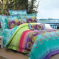 Lime Green And Purple Bedroom - turquoise lime green purple and red bohemian style luxury paisley