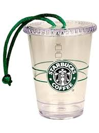 starbucks ornament clear to go cup 2009