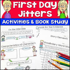first day jitters first day of activities by jason u0027s online