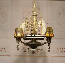 Ship Lighting Fixtures Antique Style Nautical Sailing Ship Boat Chandelier Ceiling Light