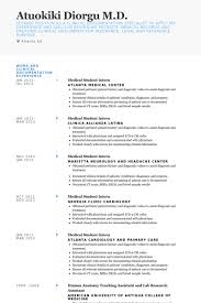 Resume Sample For Doctors by Student Intern Resume Samples Visualcv Resume Samples Database