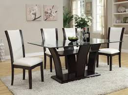 Leather Dining Room Chairs Dining Room Exquisite White Leather Dining Room Chairs Stunning