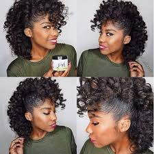 black rod hairstyles for 2015 flexi rod or perm rod set into a faux hawk done on natural hair