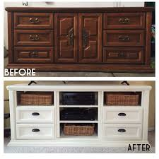 refurbished dresser turned into tv console annie sloan chalk