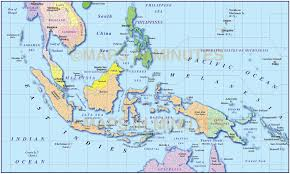 Map Of Malaysia Vector Malaysia Indonesia Simple Political Map 10m Scale In