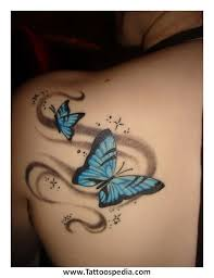 butterfly tattoos with words 2