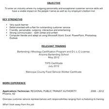 bartending resume exle resume bartender resume