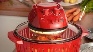 vonshef 12l red halogen oven vonshef