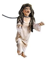 halloween life size animated creep on a leash prop decoration