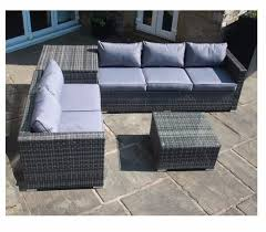 outdoor sofa with storage grey rattan corner sofa set with grey cushions corner storage box