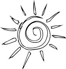 simple sun motif cartoon coloring page wecoloringpage