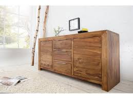 buffet design design en bois sheesham 2 portes 3 tirois lagos 140 cm