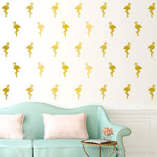 pink flamingo wall stickers white little swan wall decals see larger image