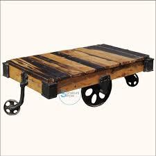 vintage wood coffee table reclaimed wood pallet industrial coffee table on wheels shakunt