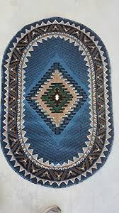 Oval Area Rugs Southwest American Oval Area Rug Blue Design D143