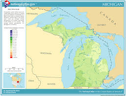 map of michigan precipitation map for michigan classbrain s state reports