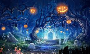 halloween hd wallpapers spooky forest dead trees mystic halloween stock photo 566088586