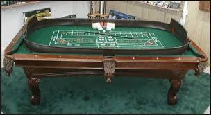Craps Table Suddenly Las Vegas Game Or Gaming Kit Blackjack Or Craps Table