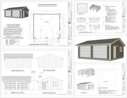 homely ideas 4 building plans for a 24x30 garage homeca