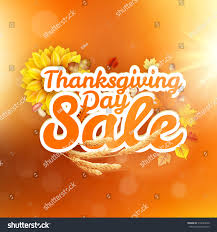 thanksgiving postcard template thanksgiving day sale headline template eps stock vector 318249656