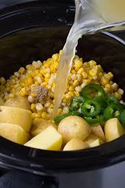 creamy slow cooker potato corn soup vegan