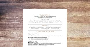 Free Resumes Templates To Download Download Our Free Resume Template