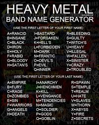 Meme Name Generator - heavy metal band name generator metal bands heavy metal and
