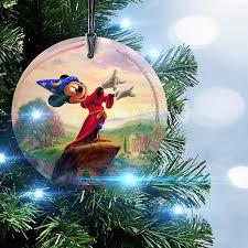 starfire prints disney circular glass ornament fantasia