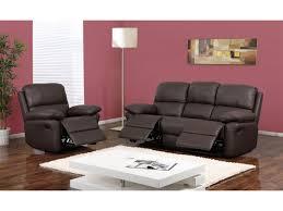 canapé relax simili cuir canapé ou fauteuil relax en cuir 3 coloris milagro
