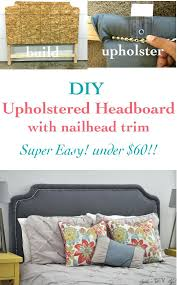 king upholstered headboard with nailhead trim lekte co page 30 metal headboard upholstered headboard diy twin