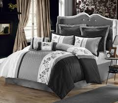 Plain White Comforters Black And White Comforter Set Ivory Nightstand Two Standing Lamps