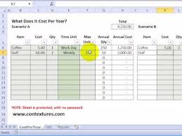 Cost Analysis Excel Template Calculate Annual Costs And Savings With Excel Template