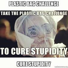 Meme Bag - plastic bag challenge cure stupidity make a meme