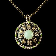 green agate necklace images Ollipop chalcedony green agate pendant necklace jpg
