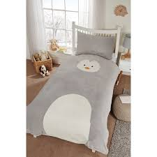 kids animal fleece duvet set single bedding bm for awesome