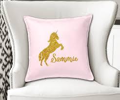 personalized unicorn nursery name cushion cover decor u2013 momenti di