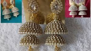 bridal jhumka earrings of designer bridal silk thread jhumkas at home diy