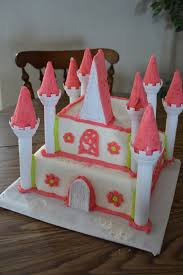 wilton princess castle pink and green with fondant girls birthday