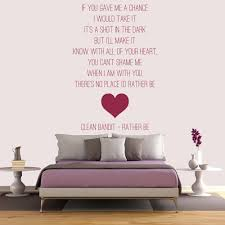 dance song lyrics wall quotes clean bandit rather be pop song lyrics wall stickers music decor art decals
