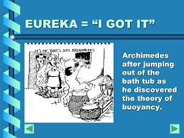 Eureka Bathtub A Presentation Of A Multi Disciplinary Unit On Ancient
